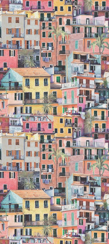 Portovenere Wallpaper in multi-color from the Manarola Collection by Osborne & Little