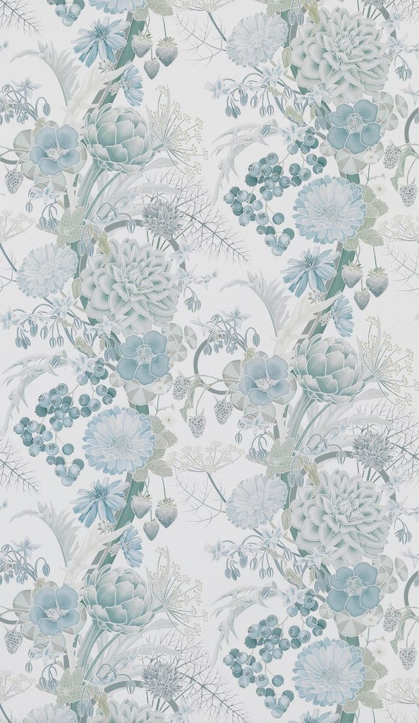 Carlotta Wallpaper in pastel gray from the Manarola Collection by Osborne & Little