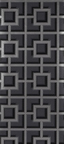 Camporosso Wallpaper in black from the Manarola Collection by Osborne & Little