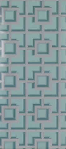Camporosso Wallpaper in turquoise from the Manarola Collection by Osborne & Little