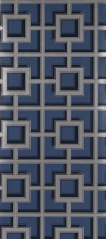Camporosso Wallpaper in blue from the Manarola Collection by Osborne & Little