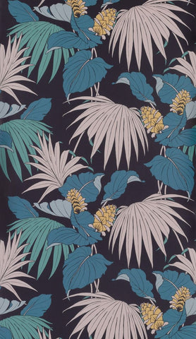 Sample Vernazza Wallpaper in Teal and blus from the Manarola Collection by Osborne & Little