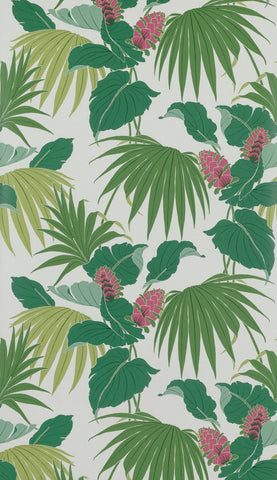 Vernazza Wallpaper in green from the Manarola Collection by Osborne & Little