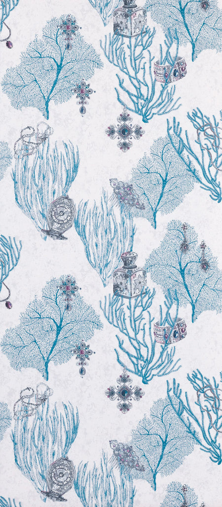 Coralino Wallpaper in blue from the Deya Collection by Matthew Williamson