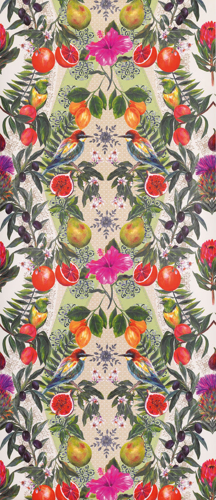 Sample Talavera Wallpaper in multi-color from the Deya Collection by Matthew Williamson