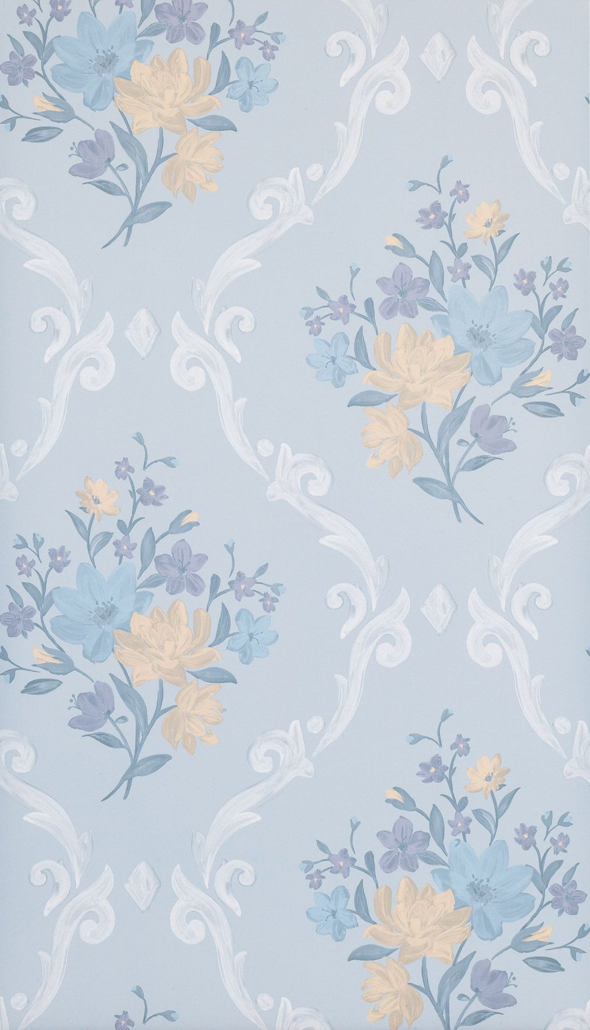 Almudaina Wallpaper In Light Blue From The Deya Collection By