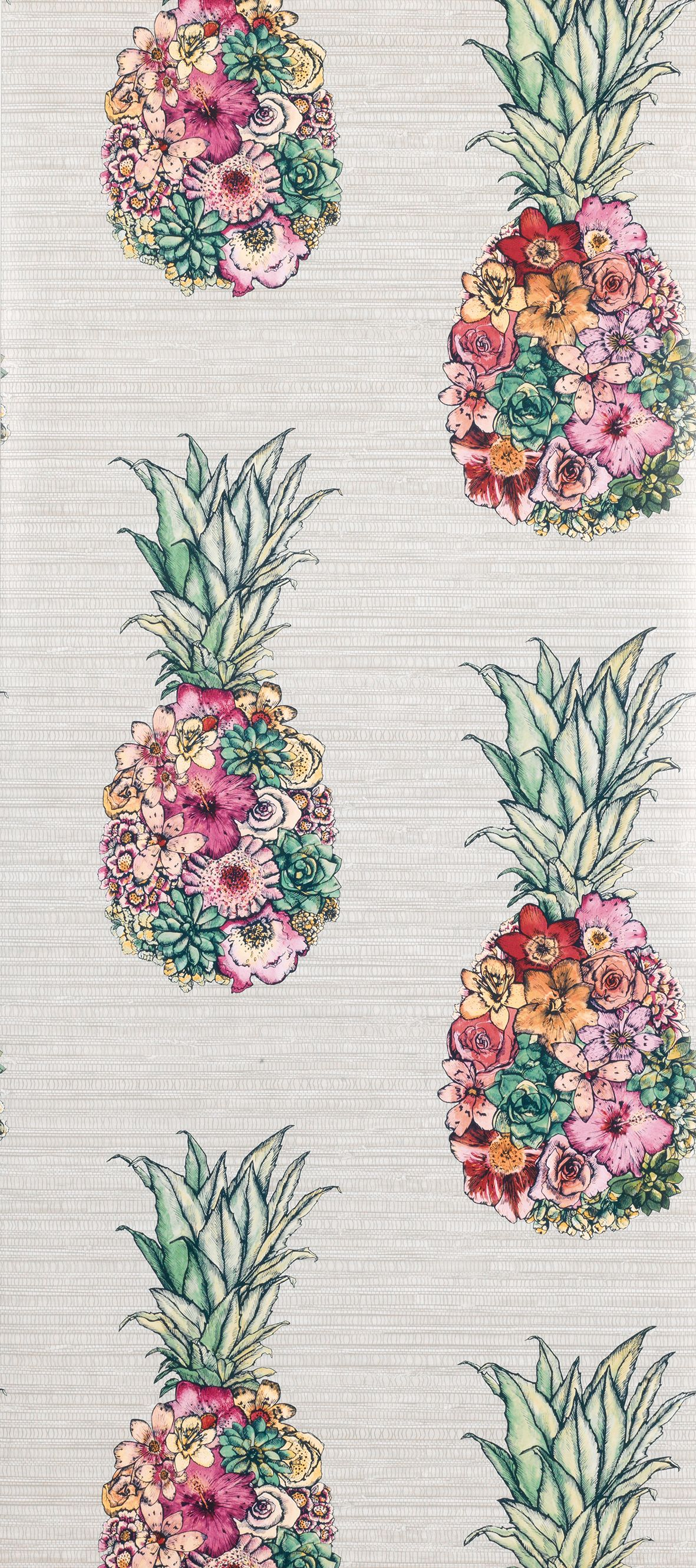 Sample Ananas Wallpaper in Multi-Color from the Deya Collection by Matthew Williamson