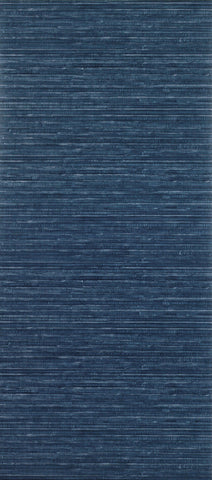 Sample Esparto Wallpaper in dark blue from the Deya Collection by Matthew Williamson
