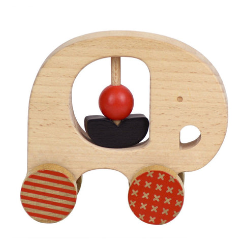 Wooden Push Along Little Elephant by Petit Collage
