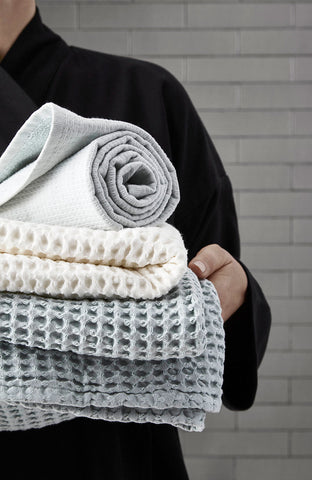 Big Waffle Towel and Blanket in multiple colors by The Organic Company