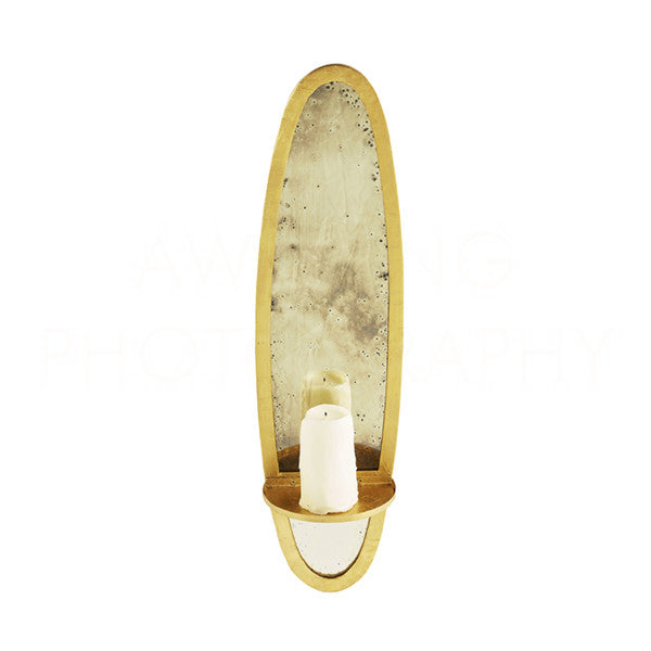 Bronx Candle Sconce Small Gold Design By Aidan Gray