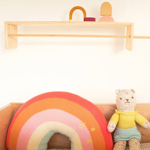 Rainbow Pillow, Pink