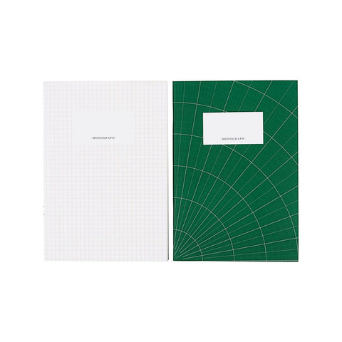 Green White Note Book Combo in A5 Set of 2 Designs