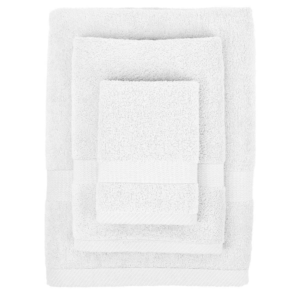 Bamboo Viscose Towel Set in Pure White