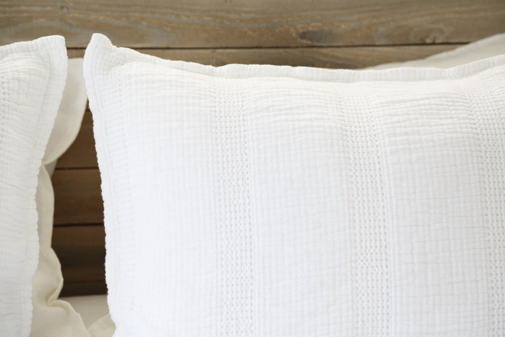 Nantucket Matelasse Collection in White by Pom Pom at Home
