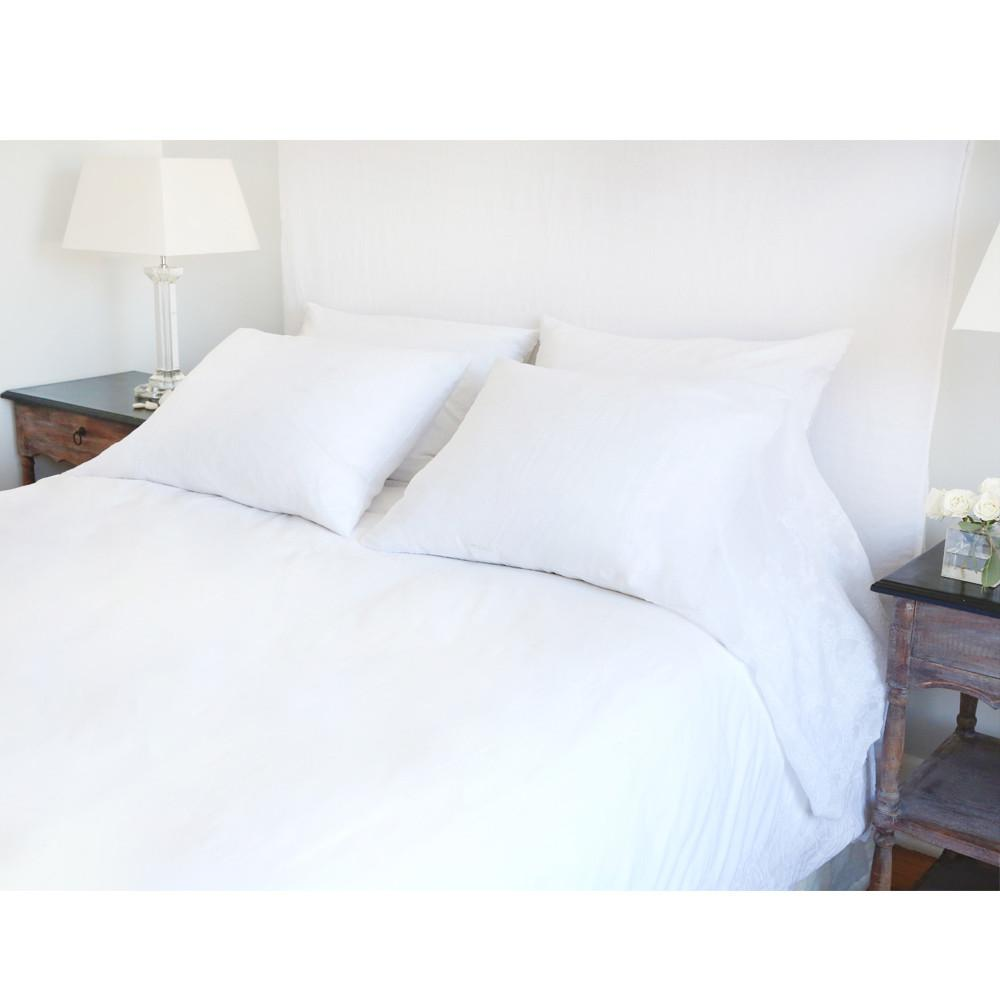Grace Duvet Set in White design by Pom Pom at Home