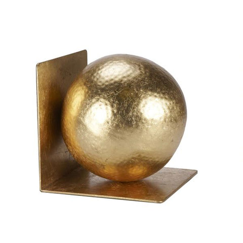Wilder Gold Leaf Hammered Ball Bookends Pair design by BD Studio