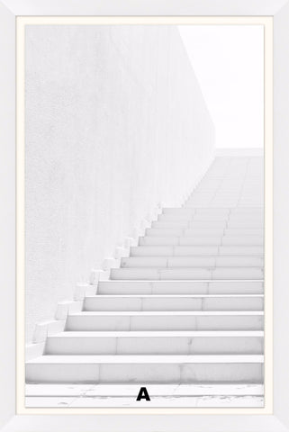 White Washed Stairs Wall Art in Various Designs design by Lillian August
