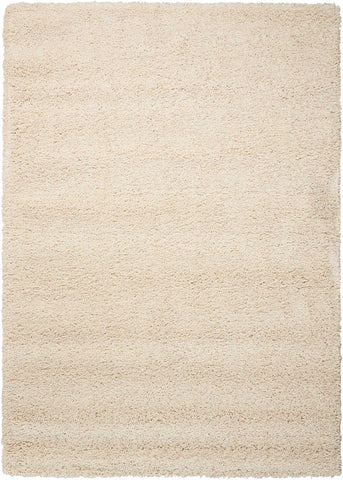 Amore Collection Shag Area Rug in Cream by Nourison