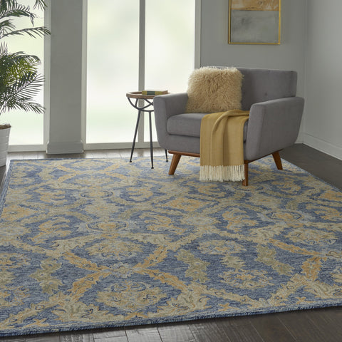 Azura Rug in Navy Blue by Nourison