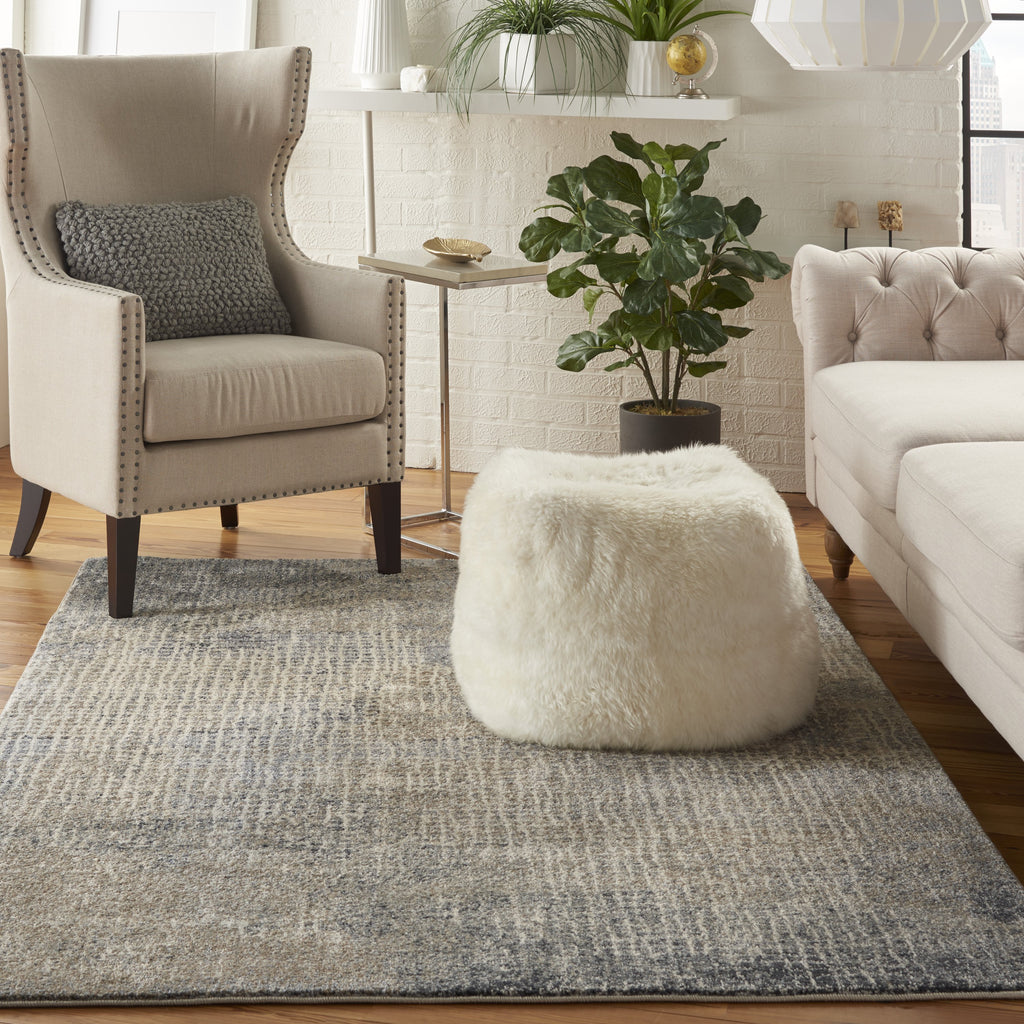 Moroccan Celebration Rug in Ivory/Grey by Kathy Ireland
