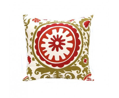 Holiday Suzani Pillow design by 5 Surry Lane