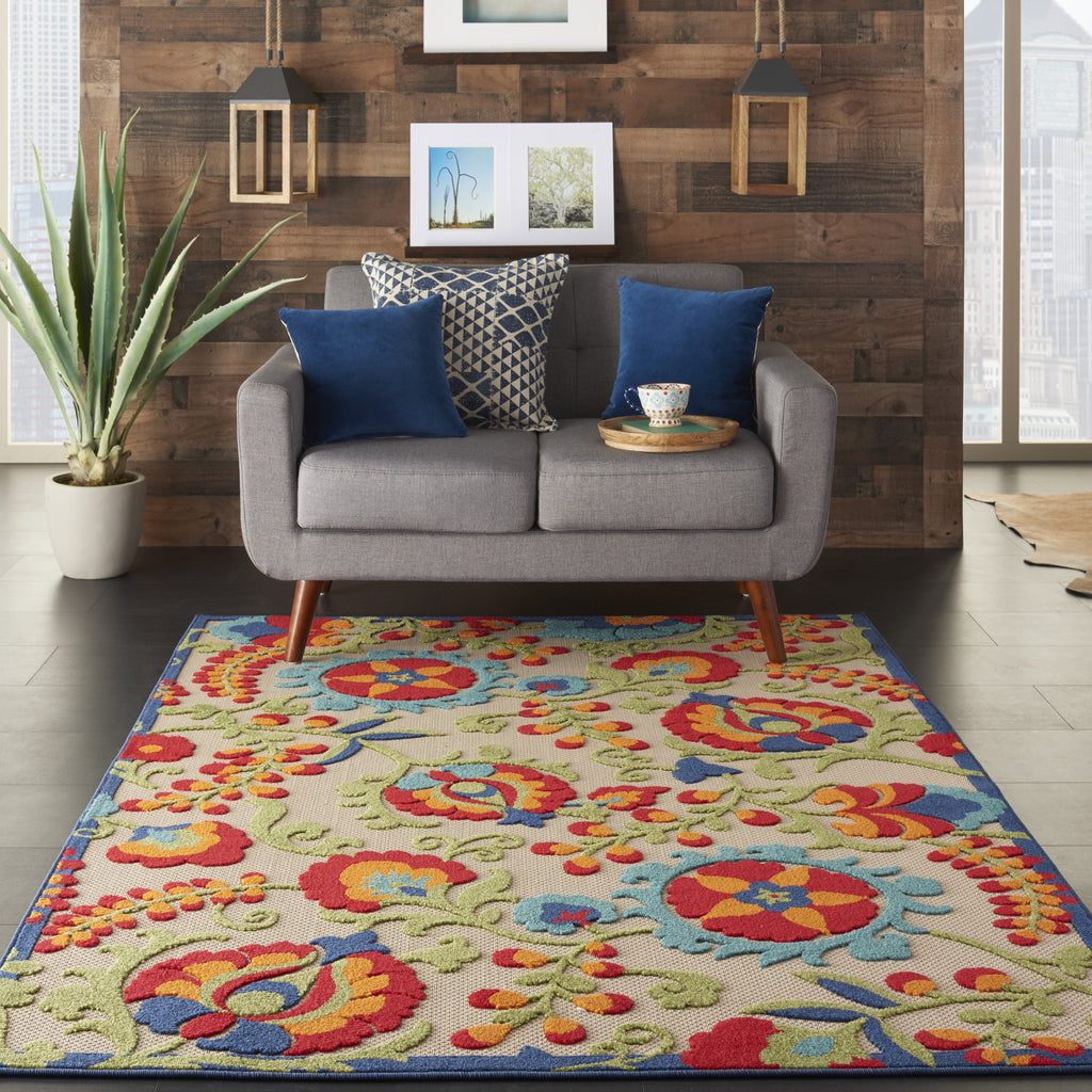 Aloha Indoor-Outdoor Rug in Multicolor by Nourison