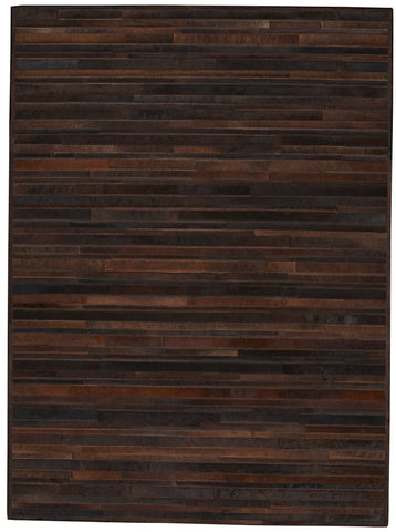 Prairie 100% Cowhide Area Rug in Sable design by Calvin Klein Home