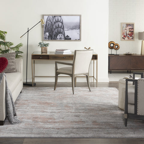 Rustic Textures Rug in Light Grey & Rust by Nourison