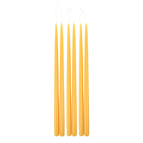Saffron Taper Candles in Various Sizes