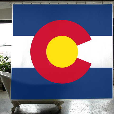 Colorado Flag PEVA Shower Curtain design by Izola
