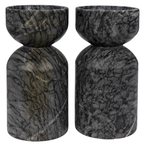 Elias Decorative Candle Holder in Various Colors by Noir