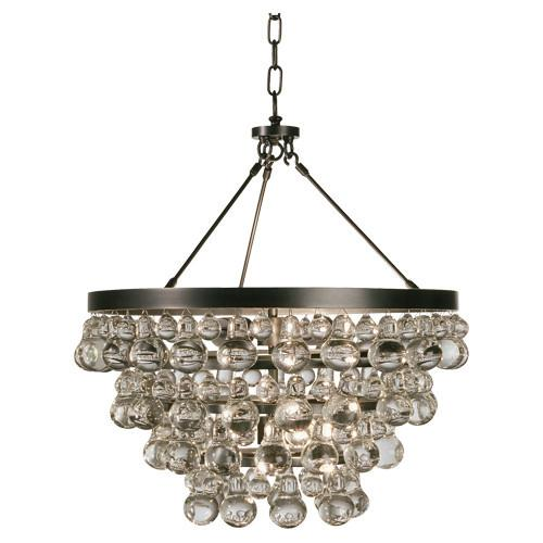 Bling Collection Chandelier w/ Convertable Double Canopy design by Robert Abbey
