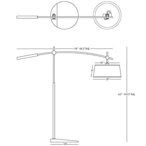 Adjustable Boom Floor Lamp by Rico Espinet