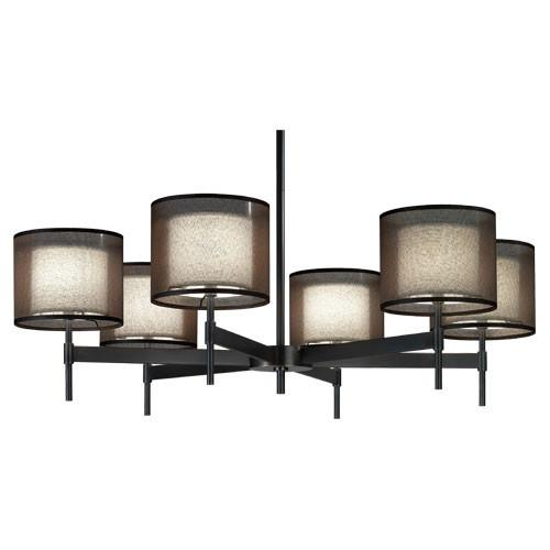 Saturnia Collection 6-Light Chandelier by Robert Abbey