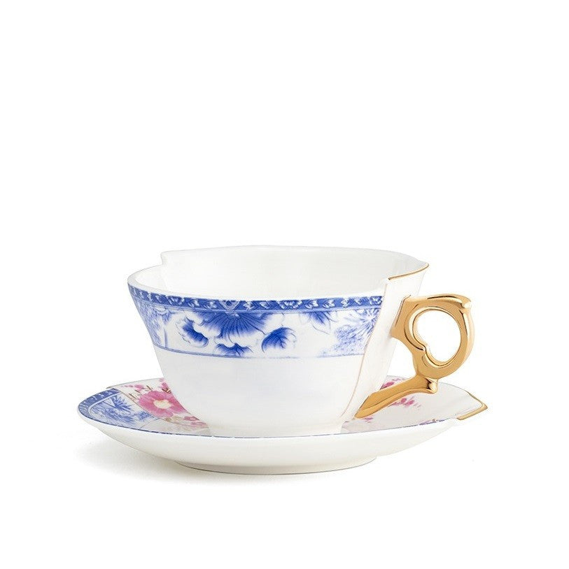 Hybrid-Zenobia Porcelain Tea Cup w/ Saucer design by Seletti