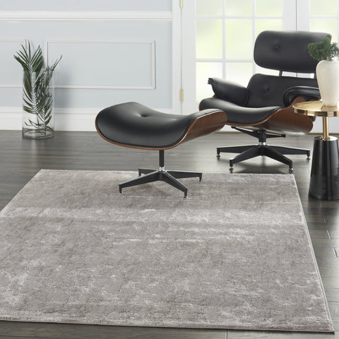 Royal Terrace Rug in Silver by Kathy Ireland