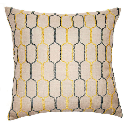 Zinc Natural Honeycomb Pillow in various sizes design by Square feathers