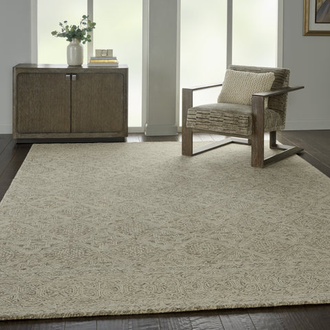 Azura Rug in Ivory/Grey by Nourison