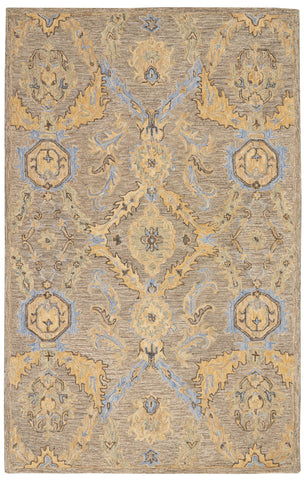 Azura Rug in Taupe/Blue by Nourison
