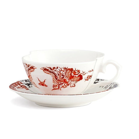 Hybrid-Zora Porcelain Tea Cup w/ Saucer design by Seletti