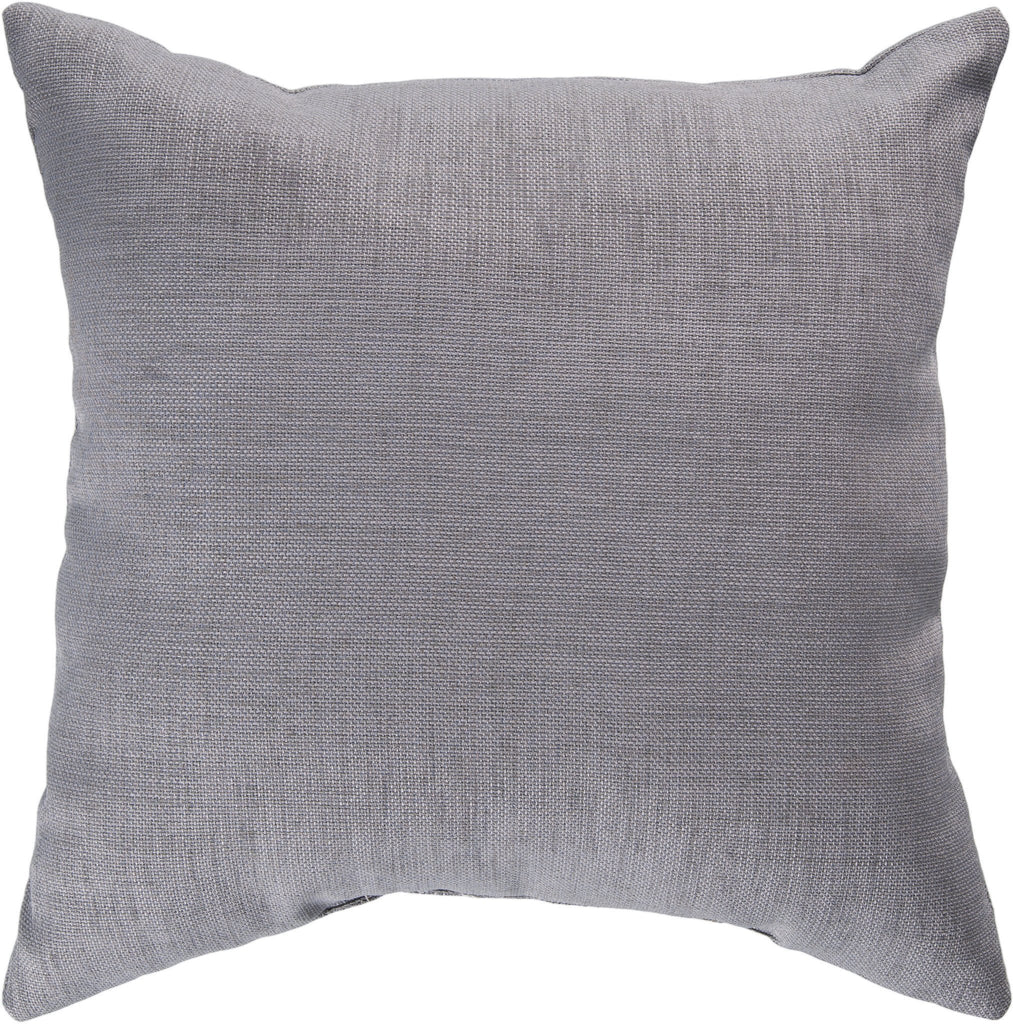 "Storm 22"" Outdoor Pillow in Grey"