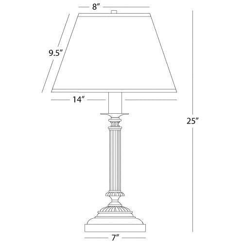 Abbey Bronze Collection Column Table Lamp design by Robert Abbey - BURKE DECOR