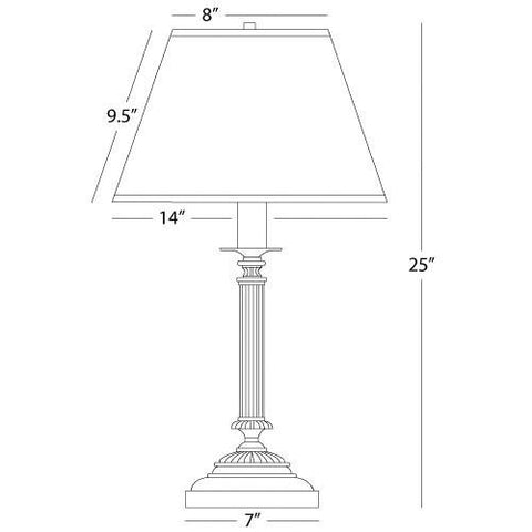 Abbey Bronze Collection Column Table Lamp by Robert Abbey