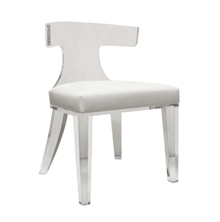 Acrylic Klismos Chair in Various Colors