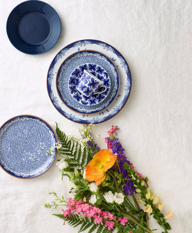 Ostindia Floris Plate in Various Sizes Design by Anna Lerinder X Caroline Slotte for Iittala