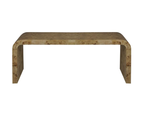 Waterfall Coffee Table in Burl Wood