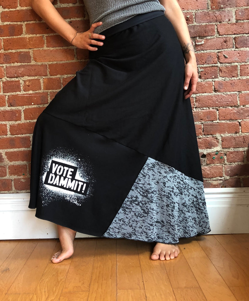 Vote Dammit Maxi Skirt