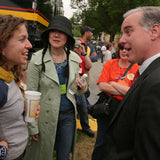 Between marching and performing, Ani spends time talking with Margaret Cho and Howard Dean.