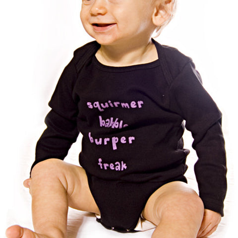 Squirmer Onesie- Black